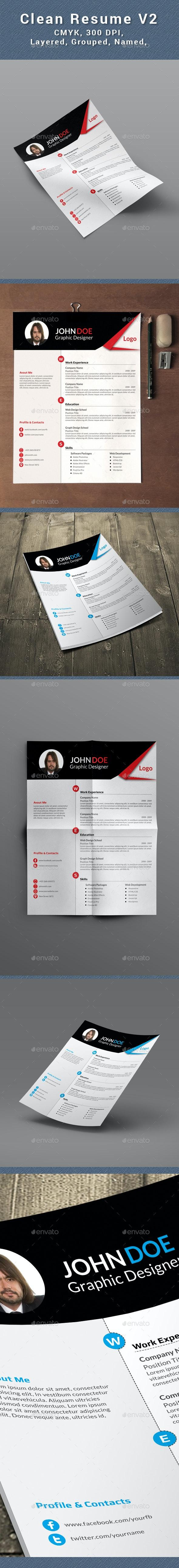 Clean Resume /CV - Resumes Stationery