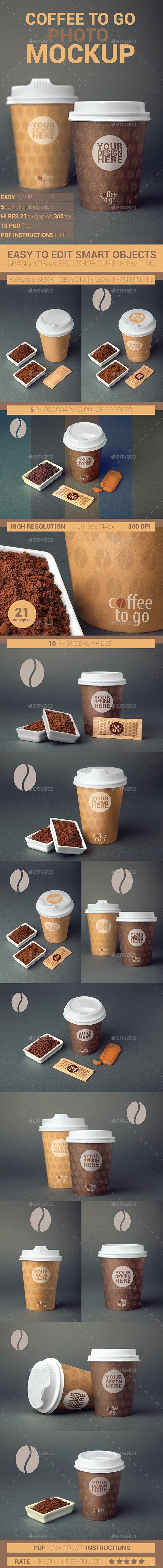 Coffee To Go Cup Branding Edition 1 Photo Mockup - Product Mock-Ups Graphics