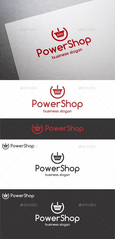 Power Shop Cart Logo - Symbols Logo Templates