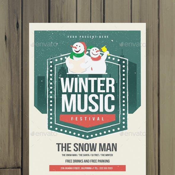 Winter Music Flyer