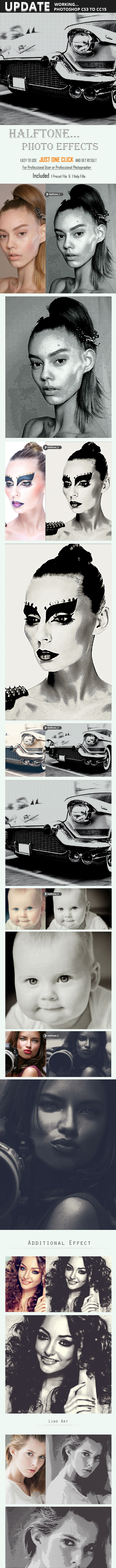 Halftone Photo Effect - Photo Effects Actions