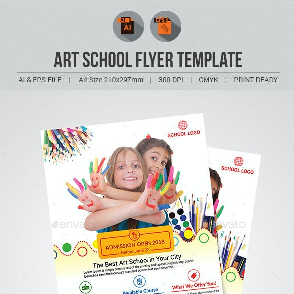 Art School Flyer Template V2