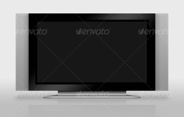Widescreen TV - Objects Illustrations