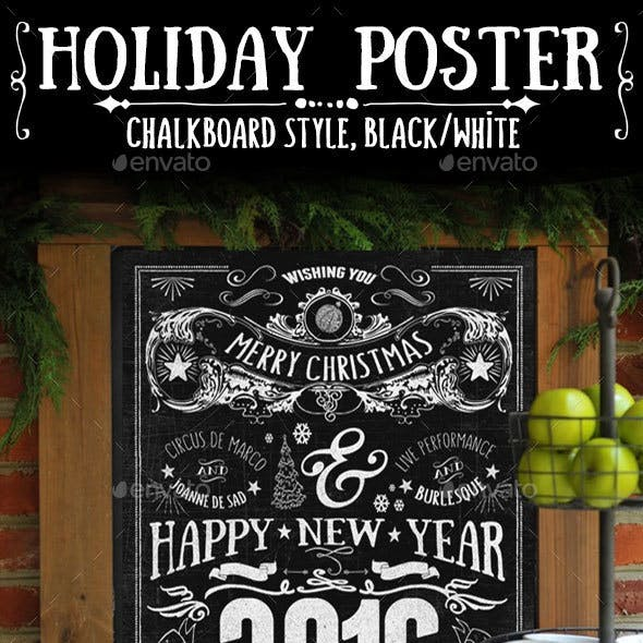 Chalkboard-Style Holiday Poster
