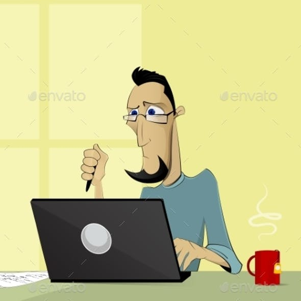 Computer Working Concept