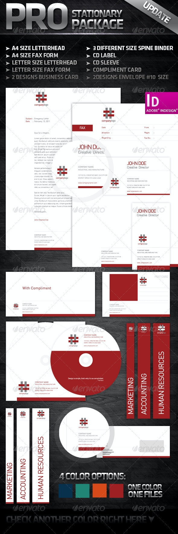 White and Clean - Complete Stationary  - Stationery Print Templates
