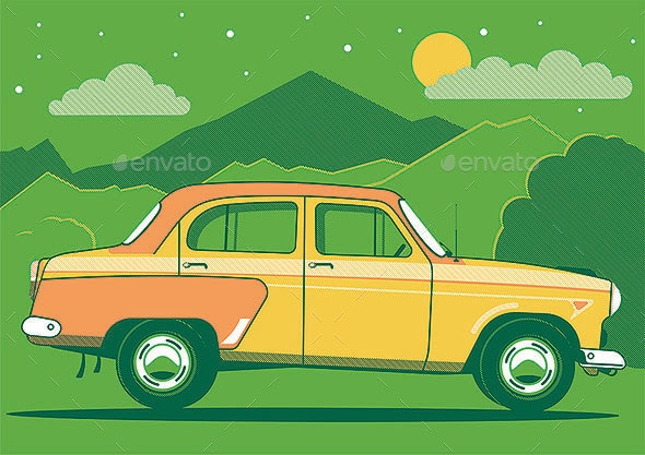 Car in the Mountains - Man-made Objects Objects