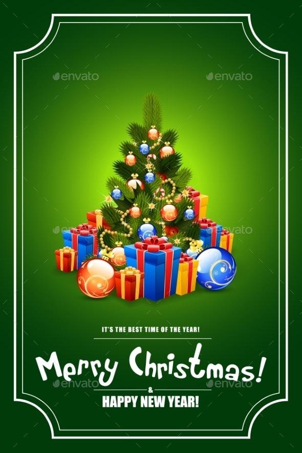 Christmas Tree with Gifts - Christmas Seasons/Holidays