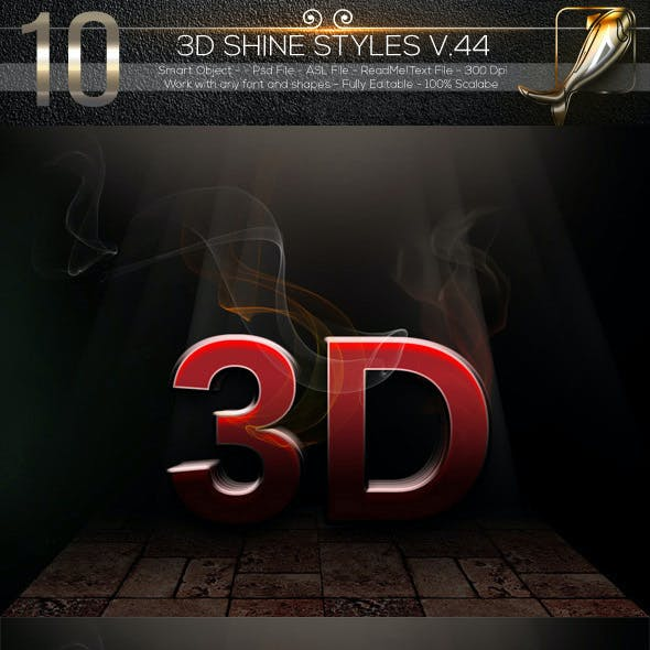10 3D Text Styles V.44Des