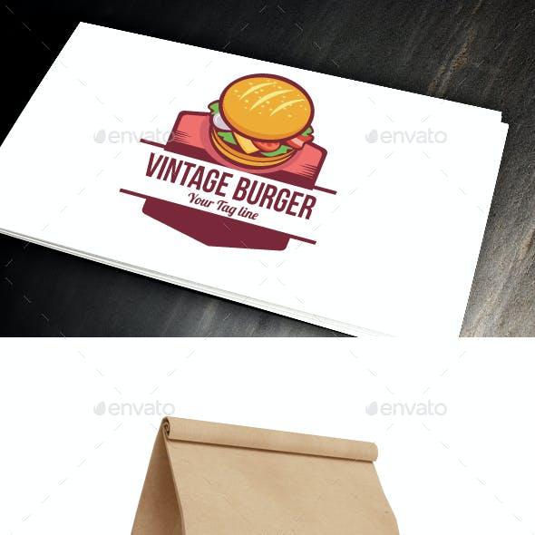 Vintage Burger Logo