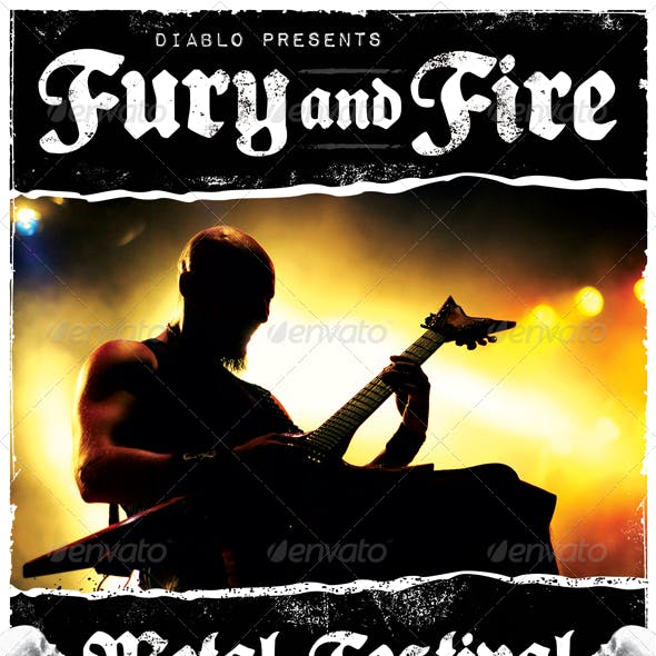 Fury and Fire - Heavy Metal Flyer