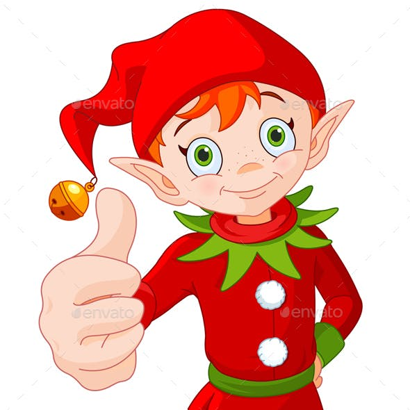 Thumb Up Christmas Elf