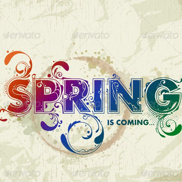 Hand drawn spring lettering