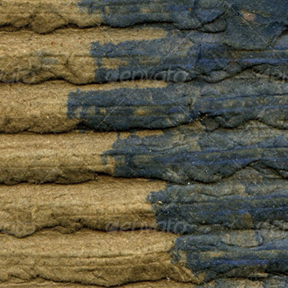 Weathered & Stained Corrugated Cardboard