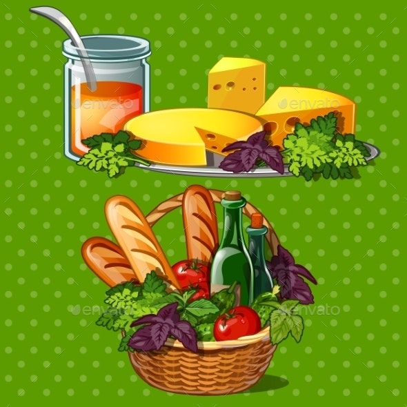 Set Of Tasty And Healthy Food - Food Objects