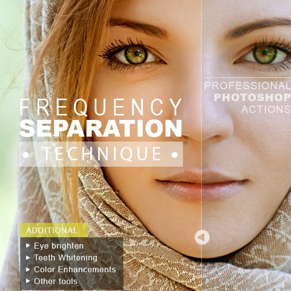 Frequency Separation Technique - Photoshop Actions