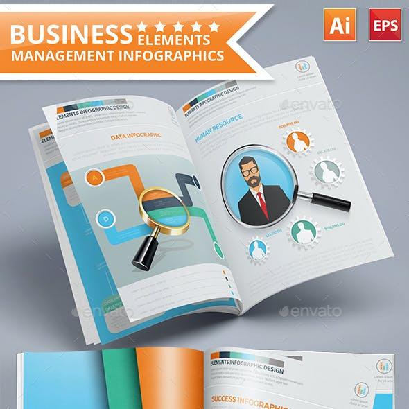 Business Management Infographics 17 Pages Design