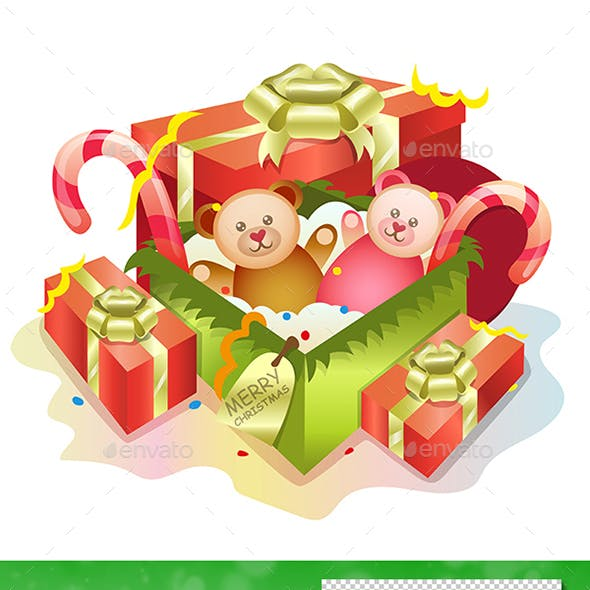 Gift Boxes and Teddy Bears