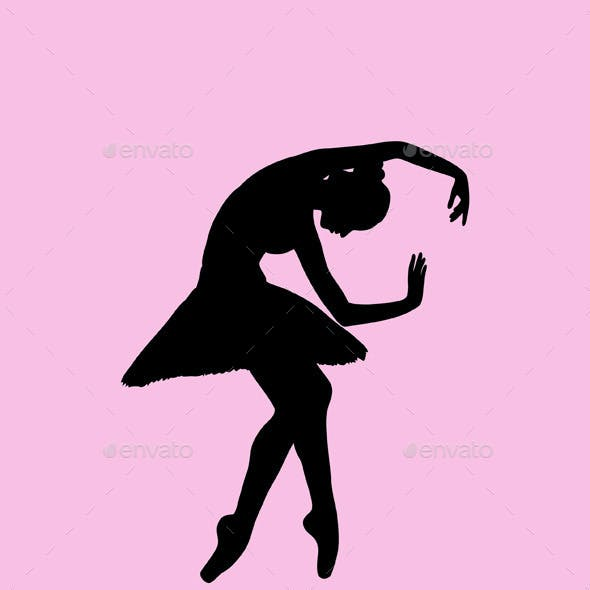 Ballerina and Hip Hop Silhouettes