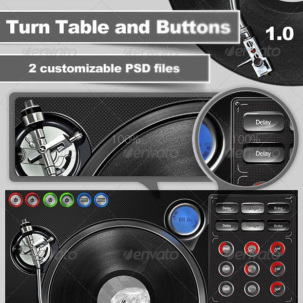 Turntable and Buttons