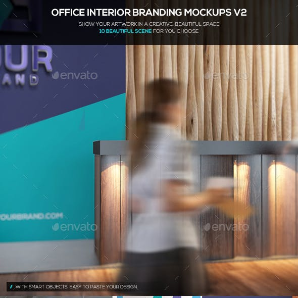 Office Interior Branding Mockups V3