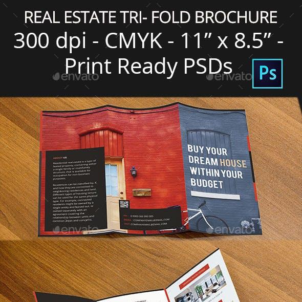 Real Estate Tri- Fold Brochure