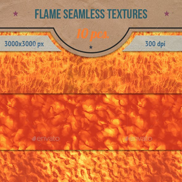 Flame and Fire Seamless Textures Pack