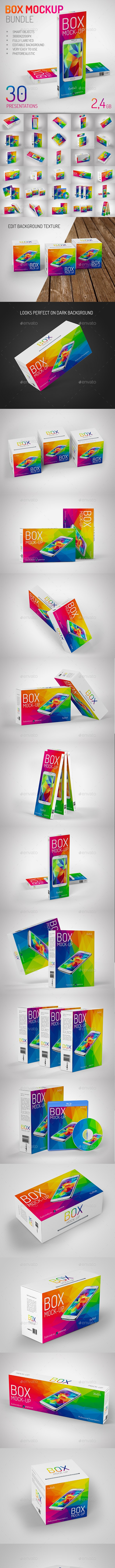 Box Mock-Up Big Bundle - Miscellaneous Packaging