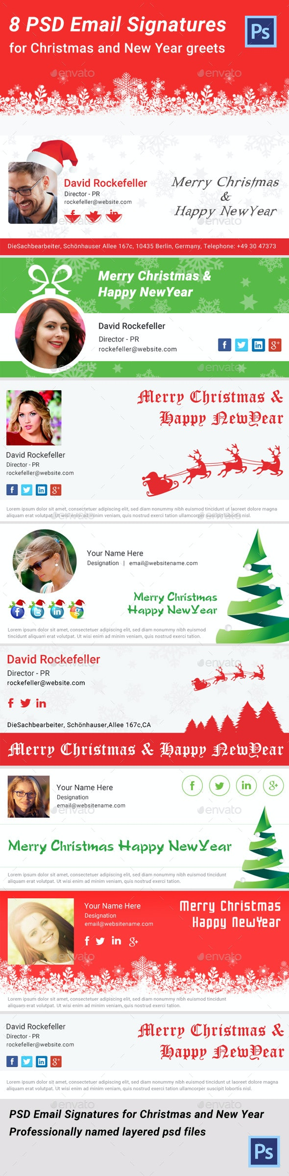 Christmas Email Signature PSD - Miscellaneous Web Elements