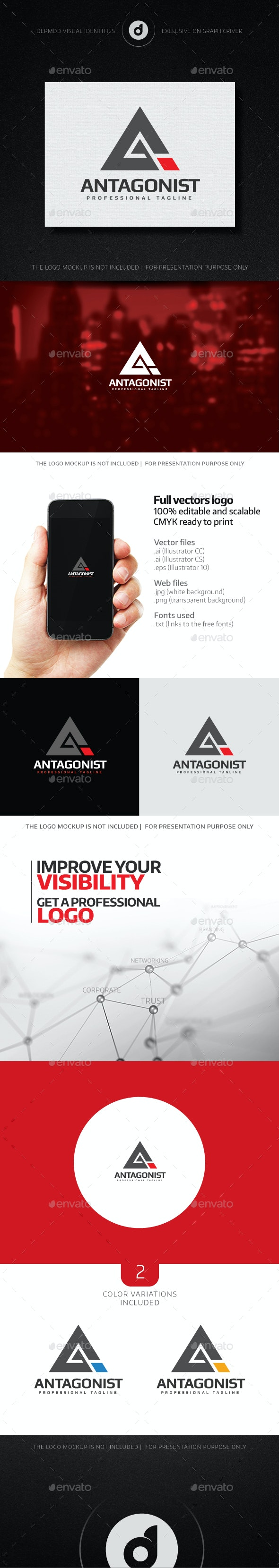 Antagonist Logo - Letters Logo Templates