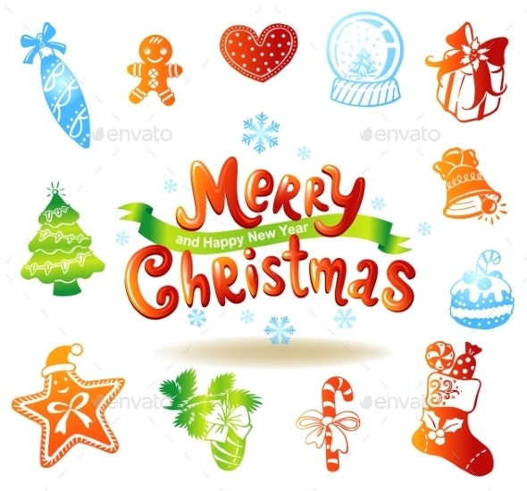 Christmas Doodle Icons - Christmas Seasons/Holidays