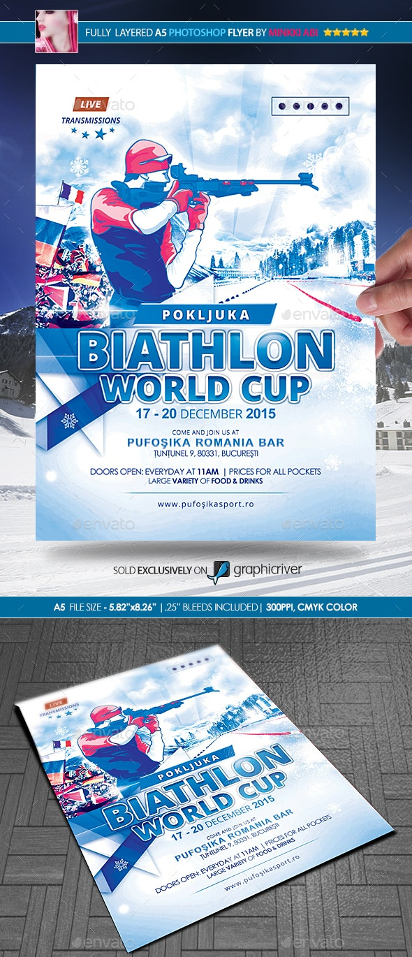 Biathlon Poster/Flyer - Sports Events