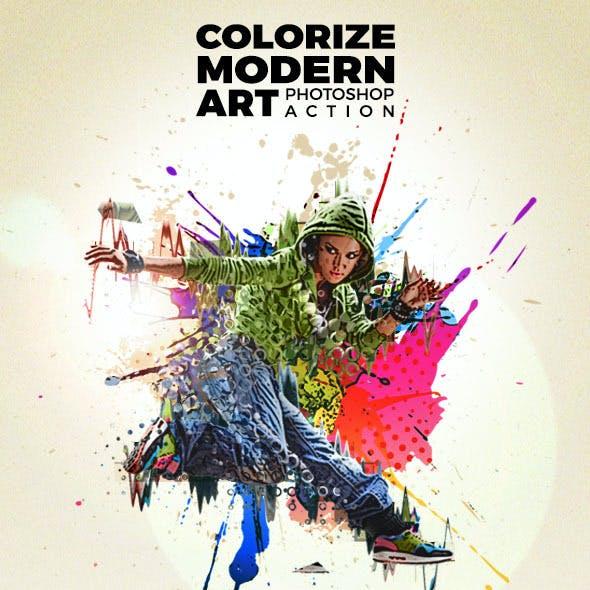 Colorize Modern Art Photoshop Action