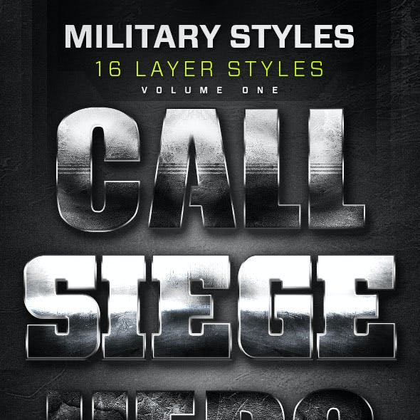 16 Military Layer Styles Volume 1