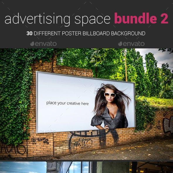 Advertising Space Mockup Bundle 02