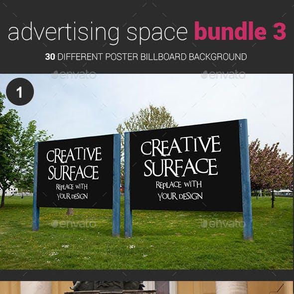 Advertising Space Mockup Bundle 03