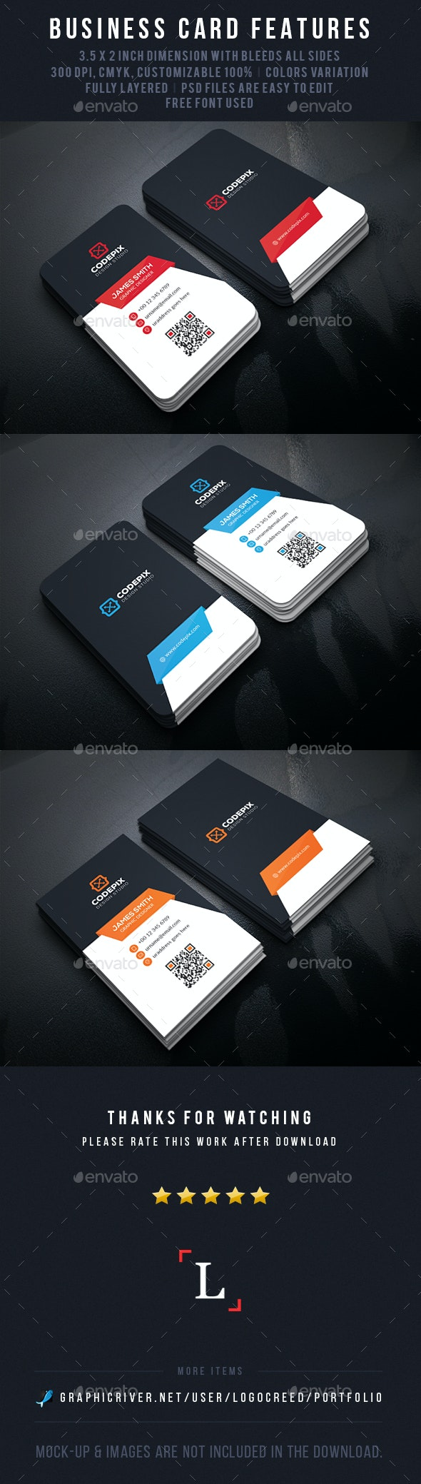 Bold Corporate Business Card - Business Cards Print Templates