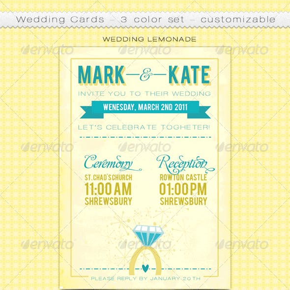 Customizable Wedding Cards