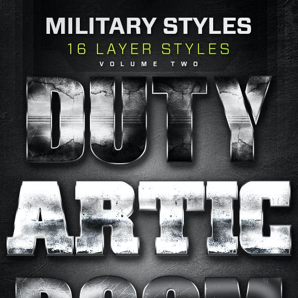 16 Military Layer Styles Volume 2