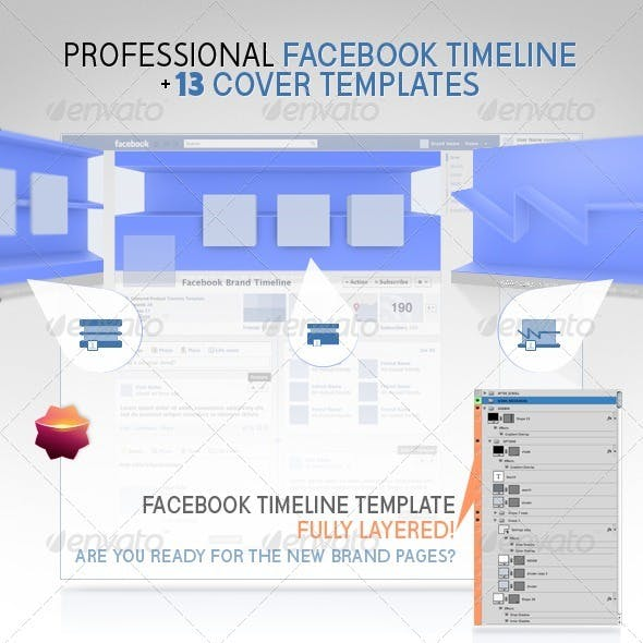 Facebook Timeline Pro Template +13 Cover Templates