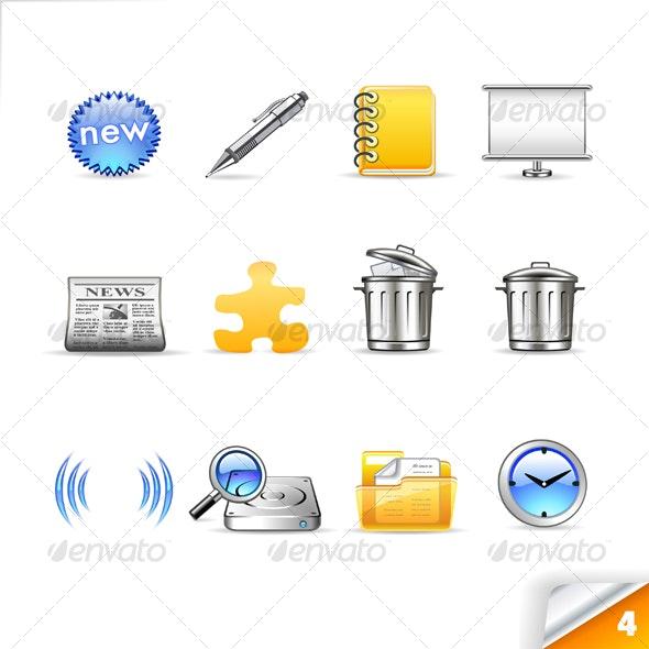 icon set n°4  - global theme - infinity series - Web Icons