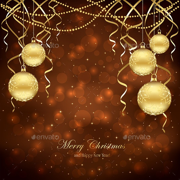 Christmas Decoration with Balls - Christmas Seasons/Holidays