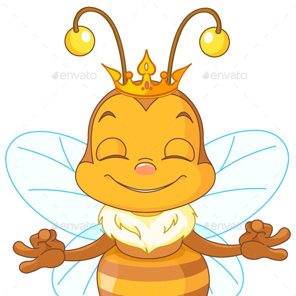 Meditating Queen Bee