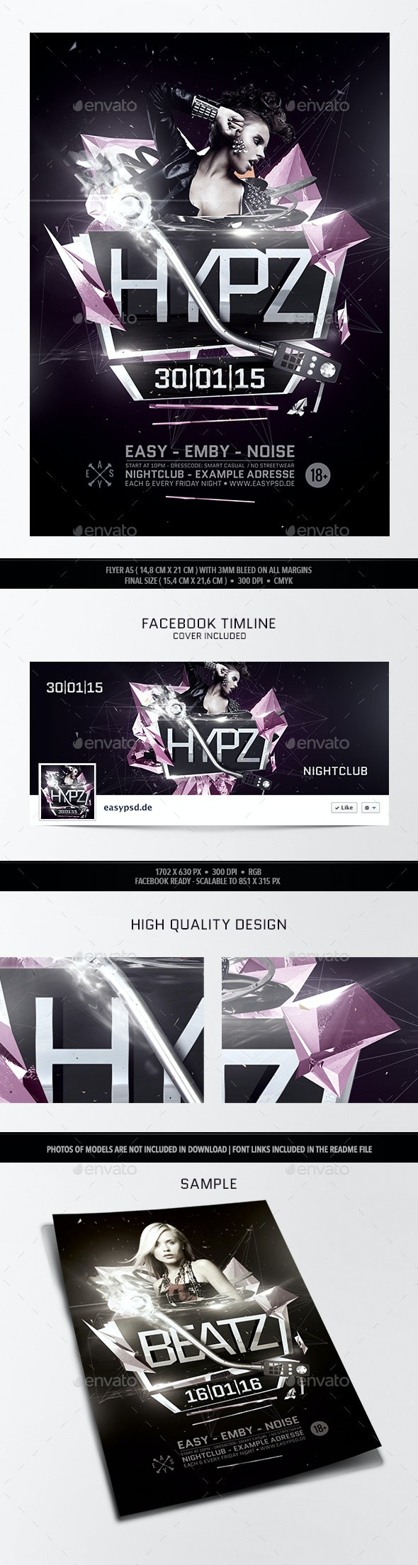 Hypz Flyer Template - Clubs & Parties Events