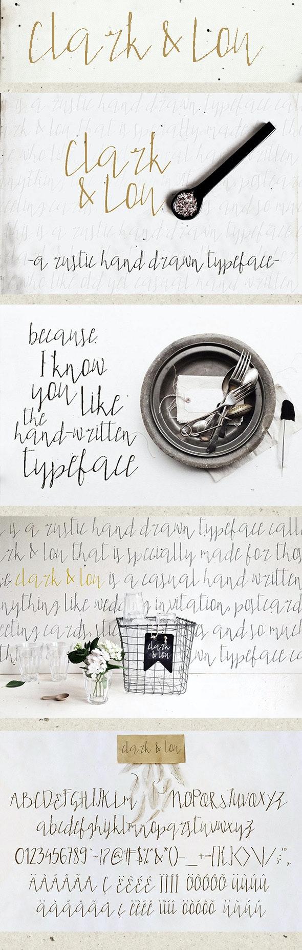 Clark & Lou - Hand-writing Script