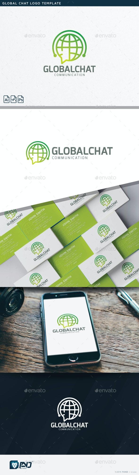 Global Chat - Symbols Logo Templates