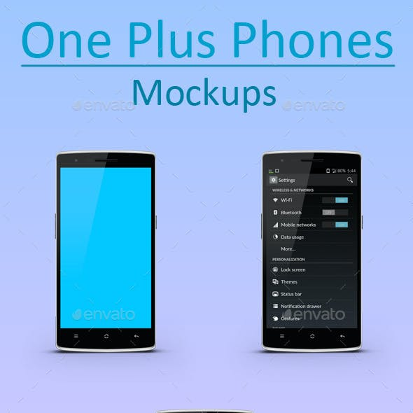 One Plus Phone Mockups