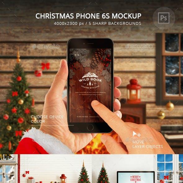 Christmas Phone 6S Mockup
