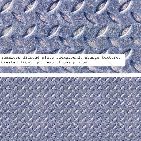 Seamless Metal Texture, Diamond Plate Patterns