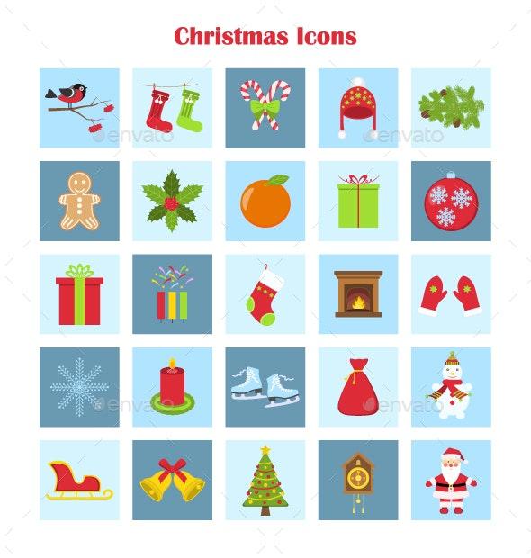 Vector Collection of Christmas Icons - Seasonal Icons